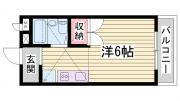 シャトー田井 2階の間取り