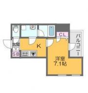 堺筋線日本橋駅より徒歩2分 1K/10階の間取り