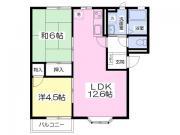 エクセレント錦A 2LDK/2階の間取り ★2LDK・49.8平米★