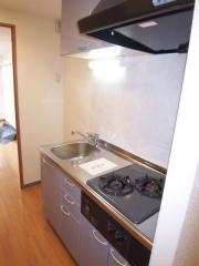 グレースフレア 1K/9階のキッチン 2口ガスコンロのシステムキッチン