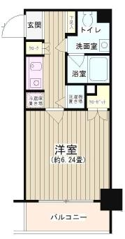 NONA PLACE渋谷富ヶ谷 1K/3階の間取り