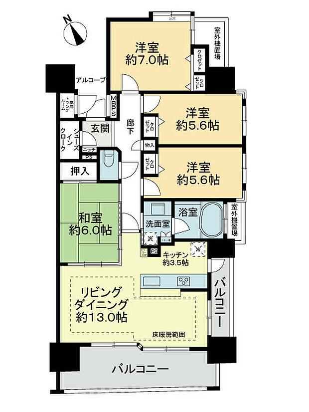 ライオンズ江南(4LDK) 2階の内観