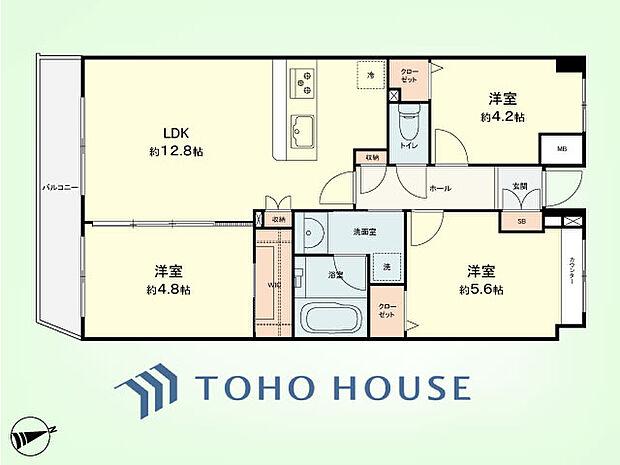 日吉西パークホームズ2番館(3LDK) 3階の間取り図