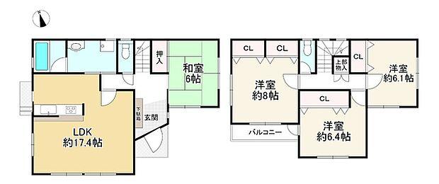 神戸電鉄有馬線 鈴蘭台駅より 徒歩19分(4LDK)の内観