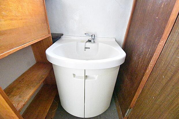 とてもシンプルな洗面台なので、お手入れも簡単にできそうですね。シンク下にも収納ができます