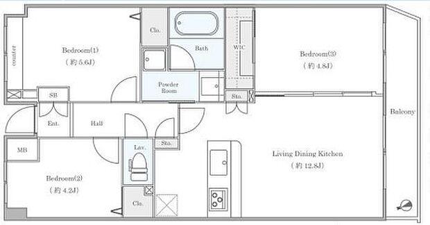 東急東横線「日吉」駅 日吉西パークホームズ2番館(3LDK) 3階の内観