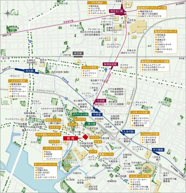 <現地案内図>