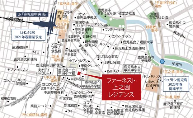 ※掲載の地図は略地図で、省略している道路・施設等があります。<BR />※地図中の施設名称は2021年1月調べのものです。<現地案内図>
