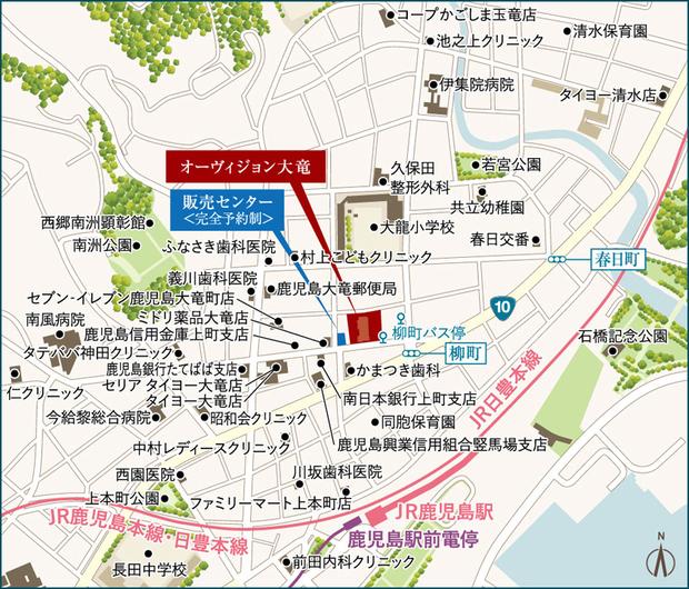 <現地・販売センター案内図(広域)>