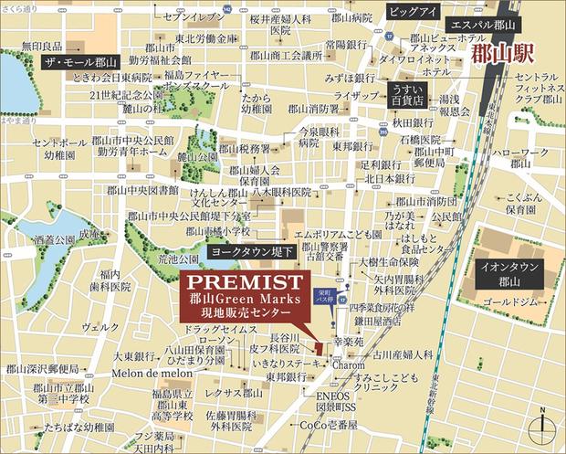 ※地図の情報は2021年3月現在のものです。<現地・現地販売センター案内図(広域)>