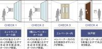 来訪者を3段階でチェックして不審者の侵入対策を強化 トリプルオートロックシステム