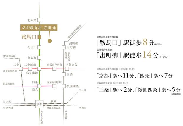 都市利便を日常使いに、潤いの日々が綴られる。<BR />※電車による所要時間は日中平常時のもので、乗り換え・待ち時間は含んでおりません。また、時間により異なります。(2021年3月時点)<交通案内図>